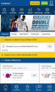 Mobile Betting at Coral Bookies